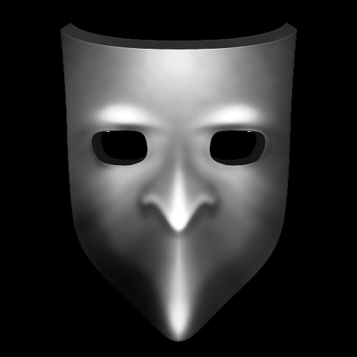 Grey Mask Icon