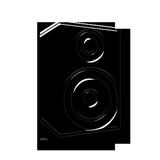 Transparent Glass Icon Media Music Speaker Provision