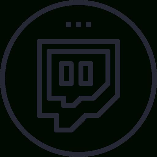 Awesome Twitch, Media, Logo, Social Icon Combination Logo