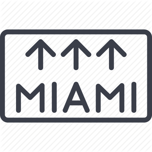 Hotel, Miami, Pointer, Service, Suitcase, Travel, Vacation Icon