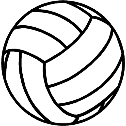 Cropped Sports Volleyball Icon