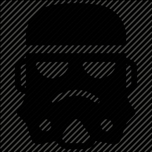 Helmet, Mask, Robot Head, Starwars, Stormtrooper Icon