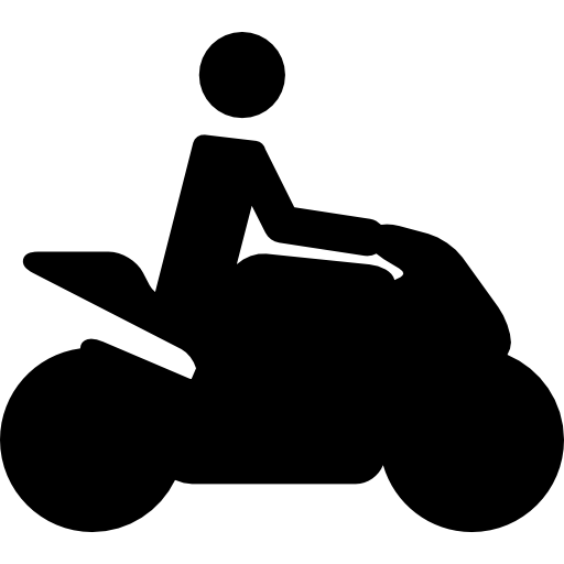 Motorcycle Traveller Silhouette Icons Free Download