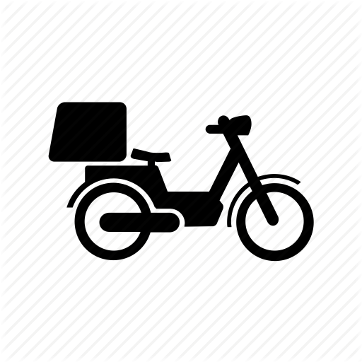 Delivery, Ecommerce, Motorcycle, Shipping Icon