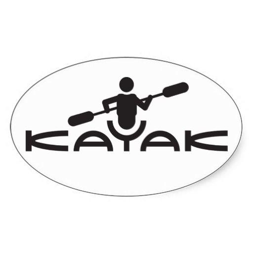 Kayak Logo Sticker Logo Typo Icon Design Kayak