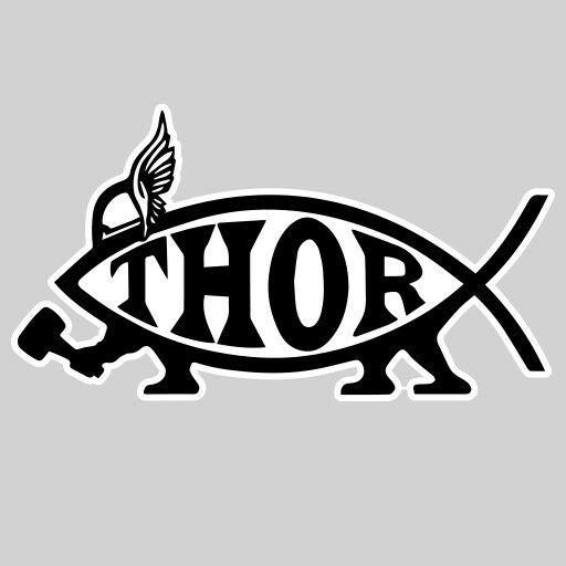 Thor Ichthys Fish Avenger Marvel Decal Vinyl Sticker Ebay
