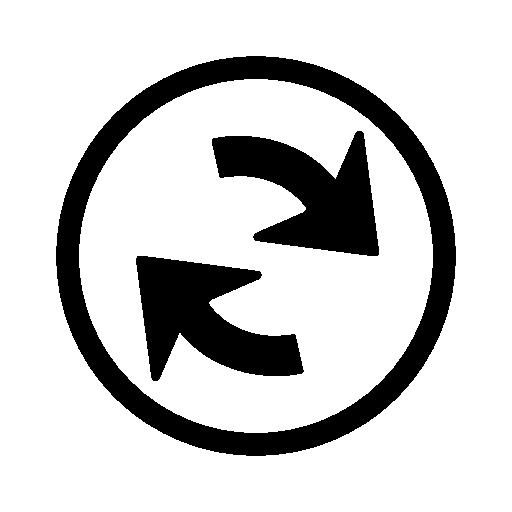Refresh Navigational Arrows Interface Symbol Inside A Circle Free
