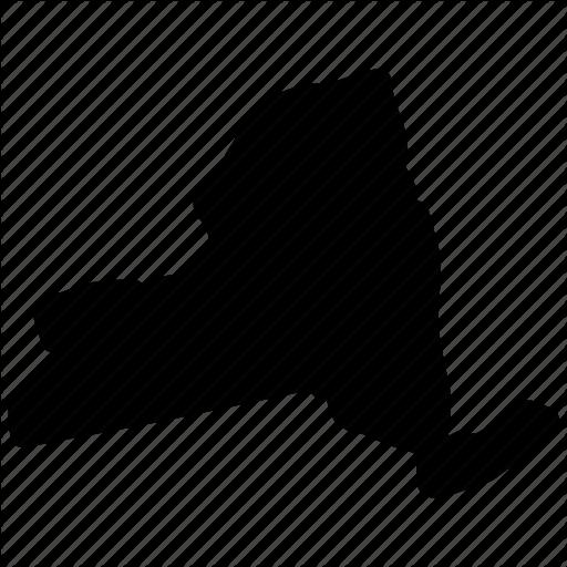 New York, New York Map, New York State, Newyork Icon