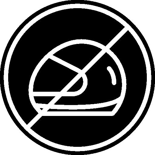 No Helmet, Helmet Outline, Motor Helmet, Signs, Helmet, Not