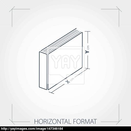 Icon Of Horizontal Format Photobook Vector