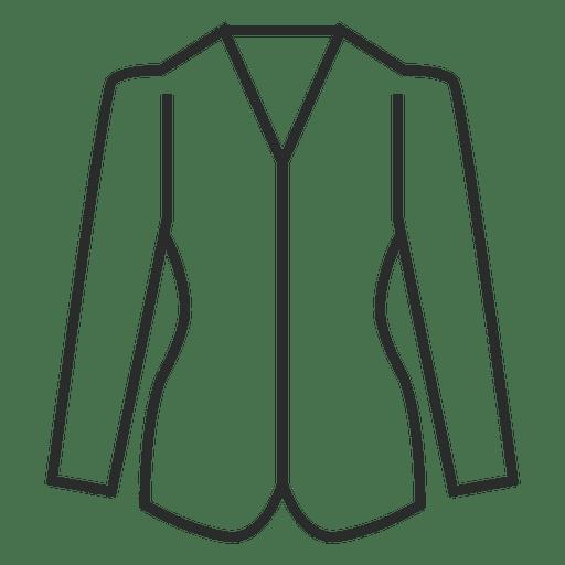 Stroke Blazer Clothing Icon