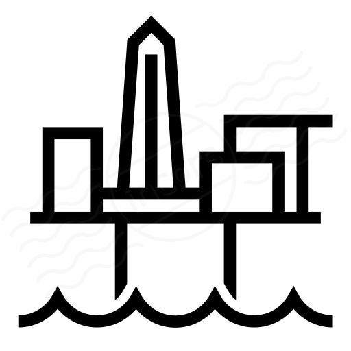 Iconexperience I Collection Oil Platform Icon