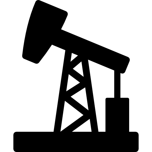 Oil Pumpjack Extraction Icons Free Download