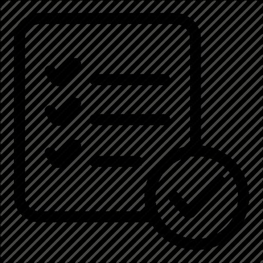 Checking, Checklist, List, Listindicate, Menu, Verify Icon