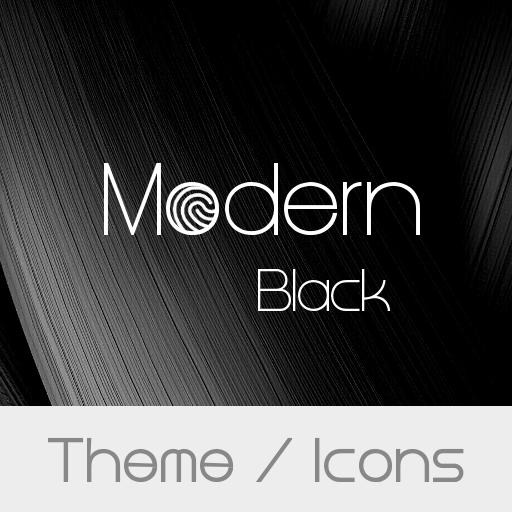 Modern Black Theme And Icons Appstore For Android