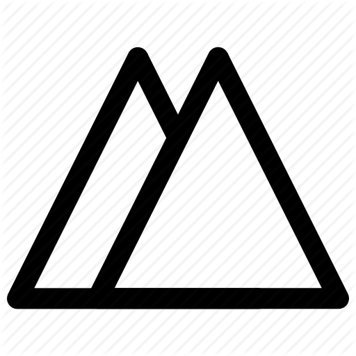 Hiking, Mountain, Peak, Triangle Icon