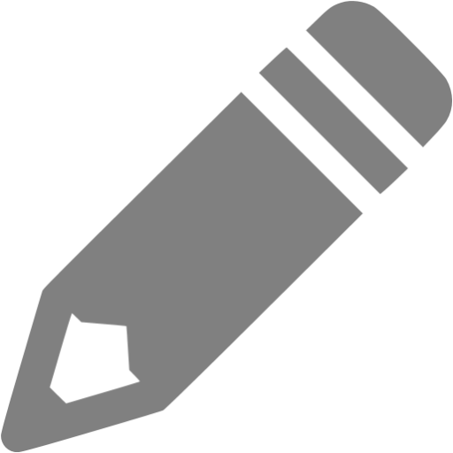 Gray Pencil Icon