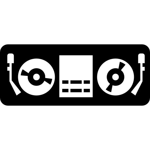Disc Jockey Control Booth Icons Free Download