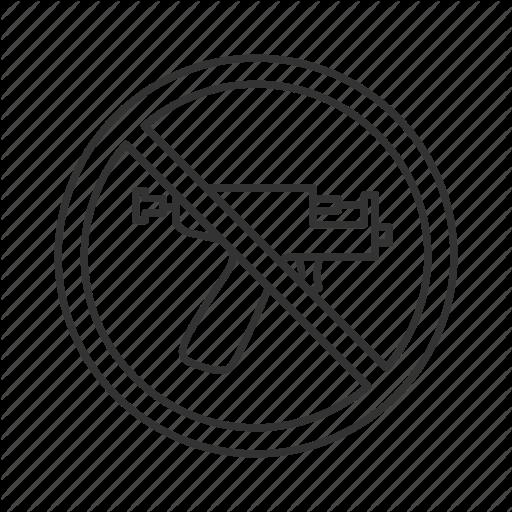 Forbidden, Gun, No, Piercer, Piercing, Prohibition, Stop Icon