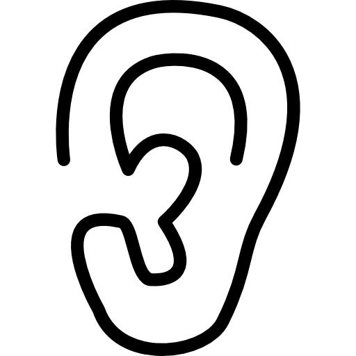 Ear Lobe Side View Outline Icons Free Download