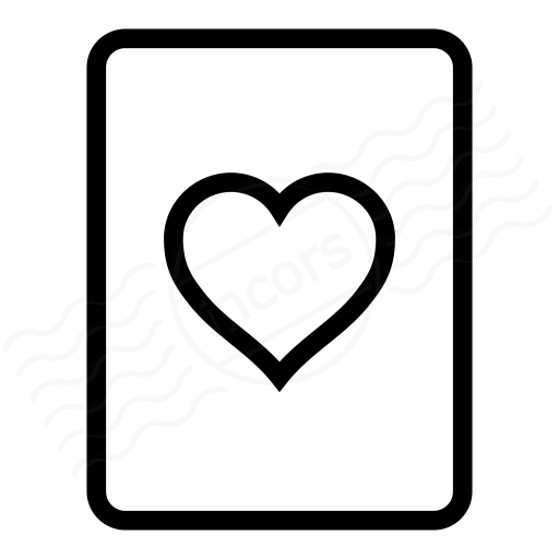 Iconexperience I Collection Playing Card Hearts Icon
