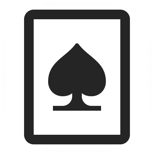Playing Card Spades Icon Iconexperience