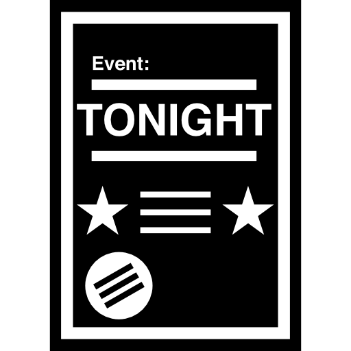 Event Poster With White Details Icons Free Download