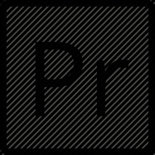 , Pr, Square, Type Icon