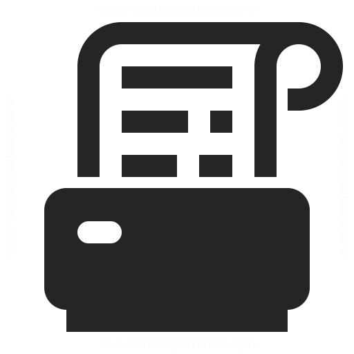 Receipt Printer Icon Iconexperience
