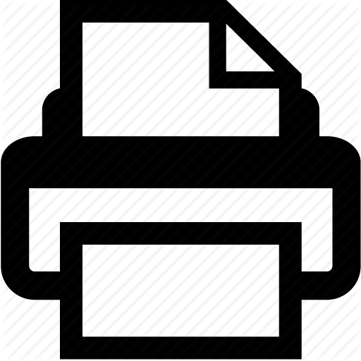 Document, Print, Printer Icon