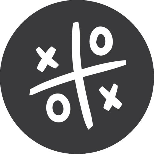Tic Tac Toe Game Grey Icon