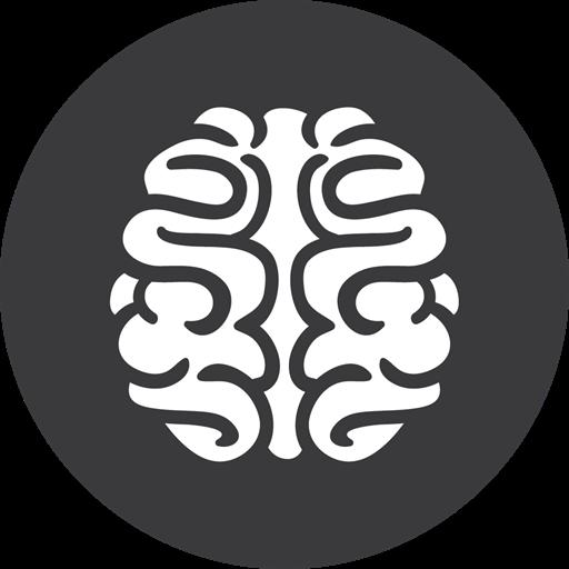 Brain, Games, Grey Icon