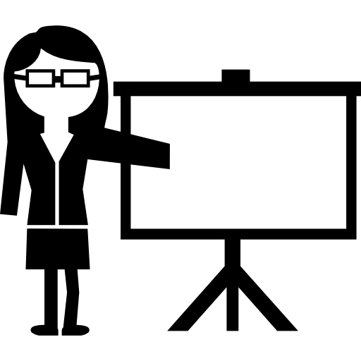 Female Instructor Giving A Lecture Standing