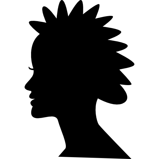 Female Short Hair Style Silhouette Icons Free Download