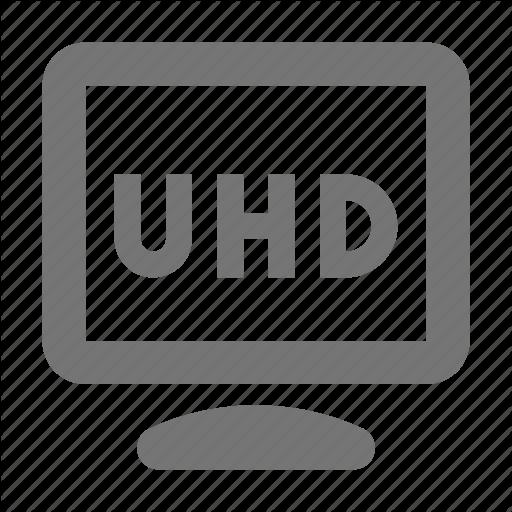 Film, Monitor, Record, Resolution, Settings, Shoot, Uhd Icon
