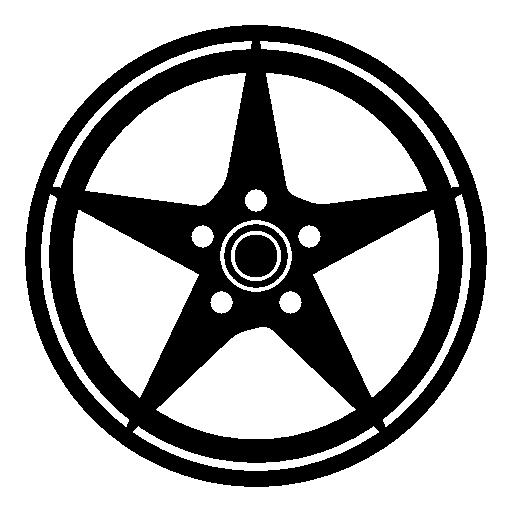 Rim, Ornamental, Wheel, Tire, Tyre, Transport Icon