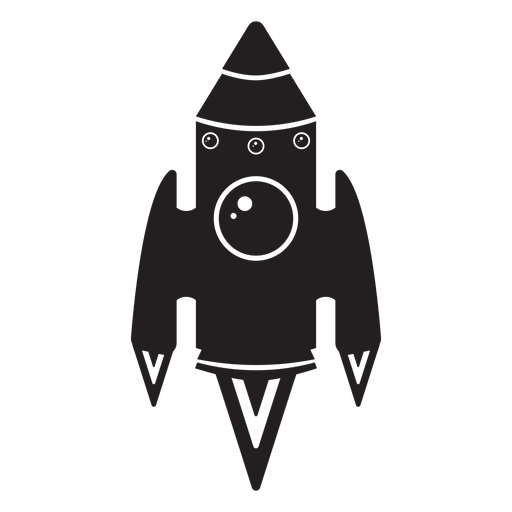 Space Rocket Black Icon
