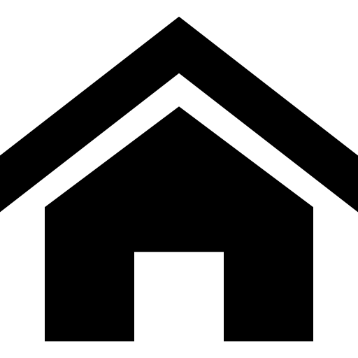 Home With Emphasized Roof Icons Free Download
