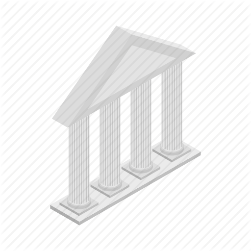 Ancient, Architecture, Building, Front, Isometric, Pillar, Temple Icon