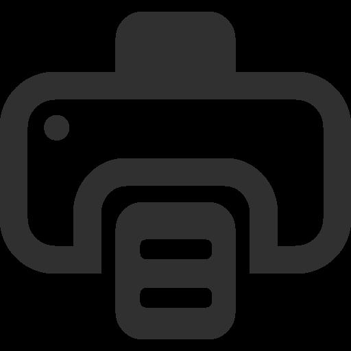 Printer Icon Mono Business Iconset Custom Icon Design