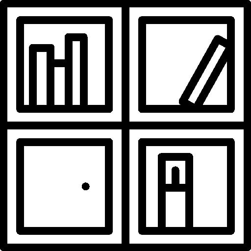 Shelving, Cupboard, Home, Livingroom, Shelves Icon