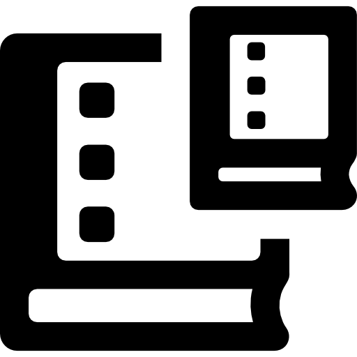 Two Books Sizes Outlined Symbol