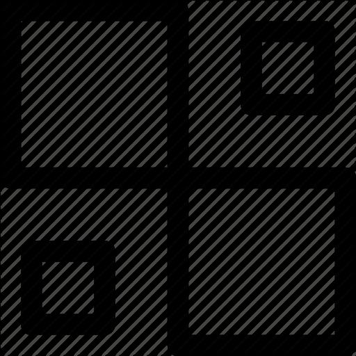 Decor, Design, Ornament, Pattern, Rectangles, Sizes, Squares Icon