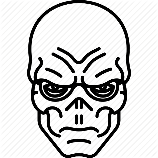 Avengers, Marvel, Red Skull, Skull Icon