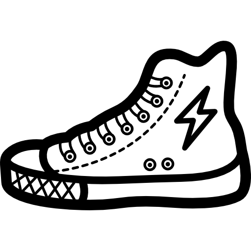 Sneaker Shoe Outline Of Fashion Walking Tool Icons Free Download