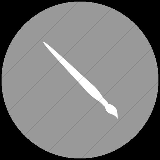 Flat Circle White On Light Gray Classica Painting Brush