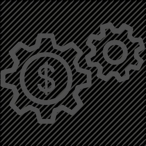 Business Management, Cog, Commerce, Dollar, Economy Icon