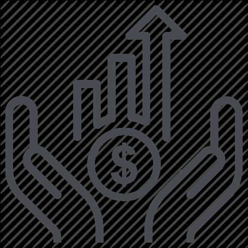 Analytics, Career, Coin, Dollar, Growth Icon