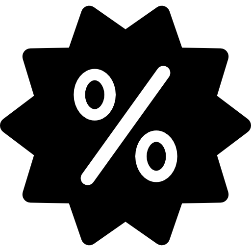 Discount Sticker With Percentage Icons Free Download