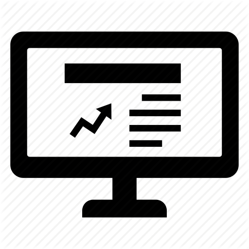 Graph, Media, News, Screen, Stock, Website, Website News Icon